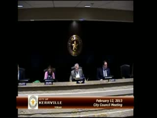 City Council - February 12, 2013