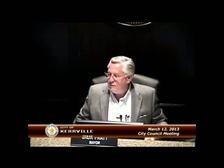City Council - March 12, 2013