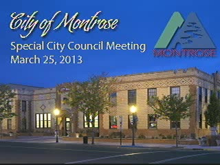 Special City Council Meeting - March 25