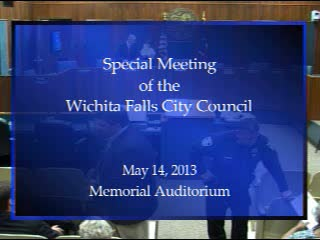 Special City Council Meeting 5-14-2014 Part 1