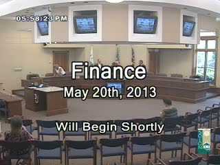 Finance May 20th, 2013