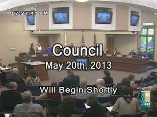 Council May 20th, 2013