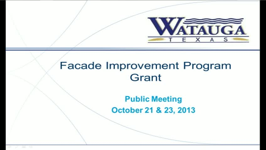 Facade Improvement Program - Oct 2013