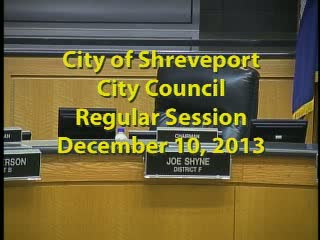 City Council Regular Session 12/10/2013