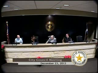 Special City Council Meeting - December 23, 2013