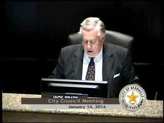 City Council Meeting - January 14, 2014