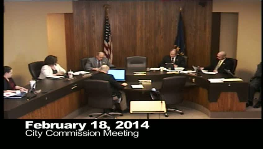 February 18, 2014 City Commission Mtg
