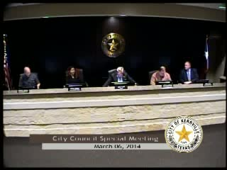 City Council Special Meeting - March 06, 2014
