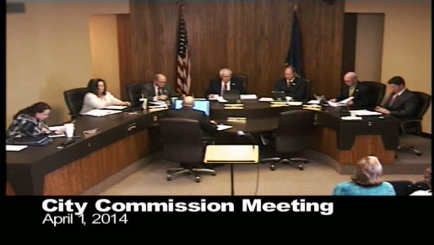 April 1, 2014 City Commission Video