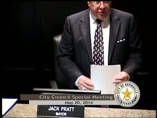 City Council Special Meeting - May 20, 2014