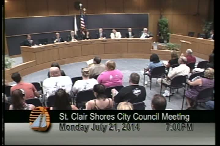 Council Meeting July 21, 2014