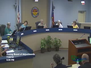 Zoning Board of Adjustments 07-24-2014