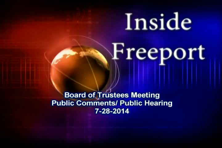 Board of Trustees Meeting 7-28-2014