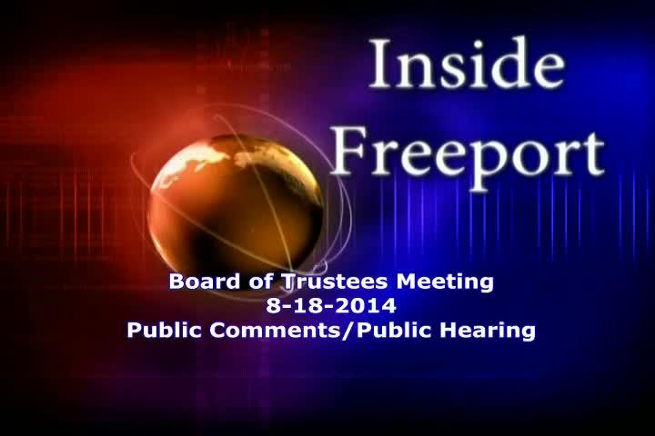 Board of Trustees Meeting 8-18-2014