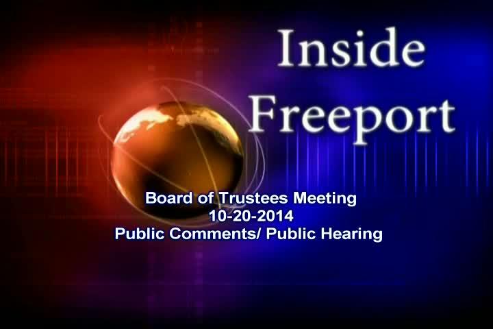 Board of Trustees Meeting 10-20-2014
