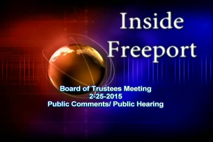 Board of Trustees 2-25-2015