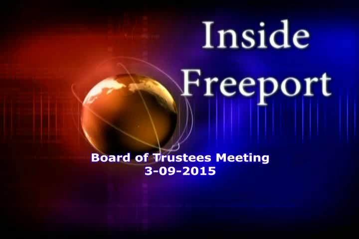 Board of Trustees Meeting 3-09-2015