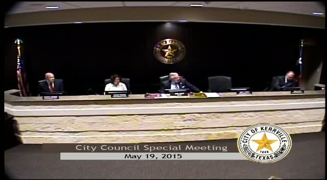 City Council Special - May 19, 2015
