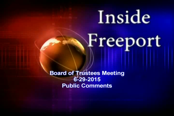Board of Trustees Meeting 6-29-2015
