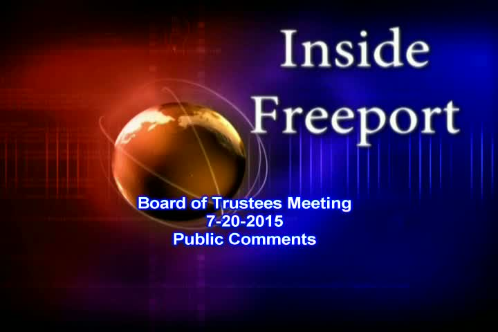 Board of Trustees Meeting 7-20-2015