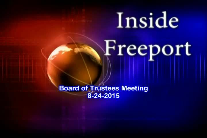 Board of Trustees Meeting 8-24-2015