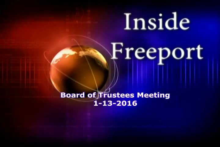 Board of Trustees Meeting - 2017 Budget  1-13-2016