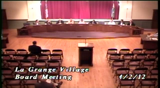 La Grange Village Board Meeting - 4/02/12