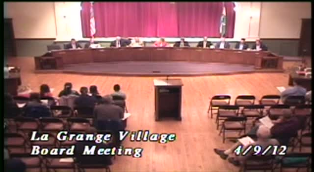 La Grange Village Board Meeting - 4/9/12