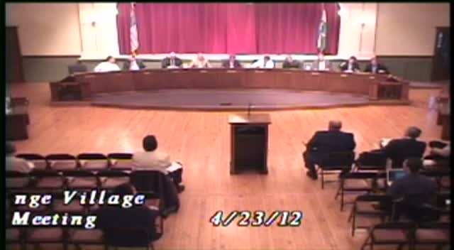 La Grange Village Board Meeting - 4/23/12
