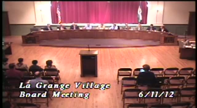 La Grange Village Board Meeting - 6/11/12