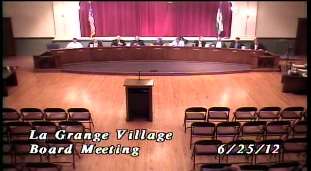 La Grange Village Board Meeting - 6/25/12