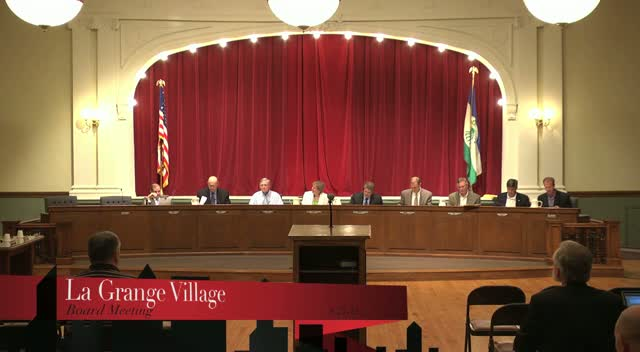 La Grange Village Board Meeting - 8/27/12