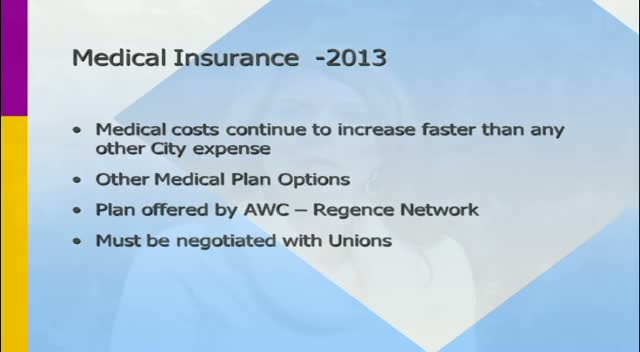 Employee Medical Insurance Presentation for 2013