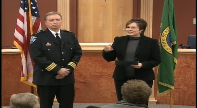 Chief Dodd's Swear-In Ceremony