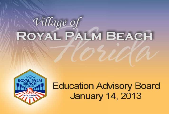 Education Advisory Board - January 14, 2013