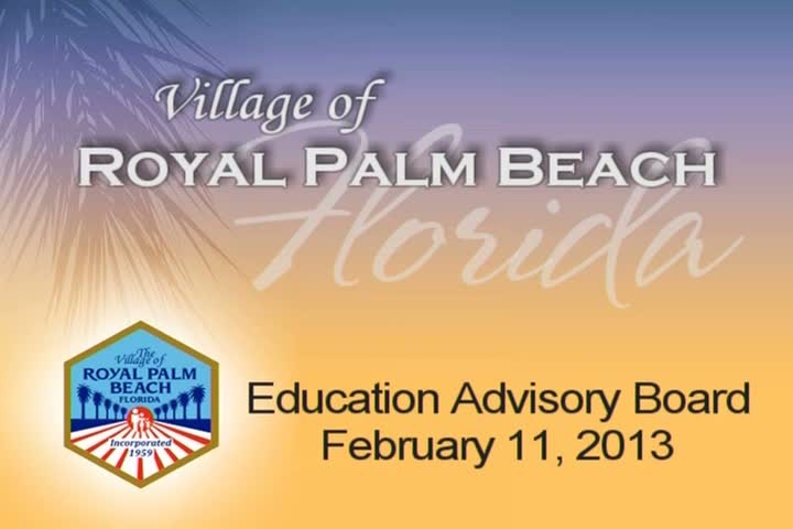 Education Advisory Board - February 11, 2013